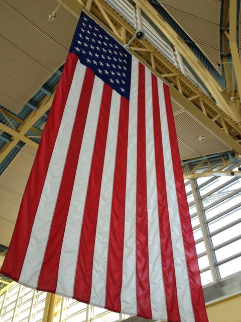 Reagan National Airport main terminal flag