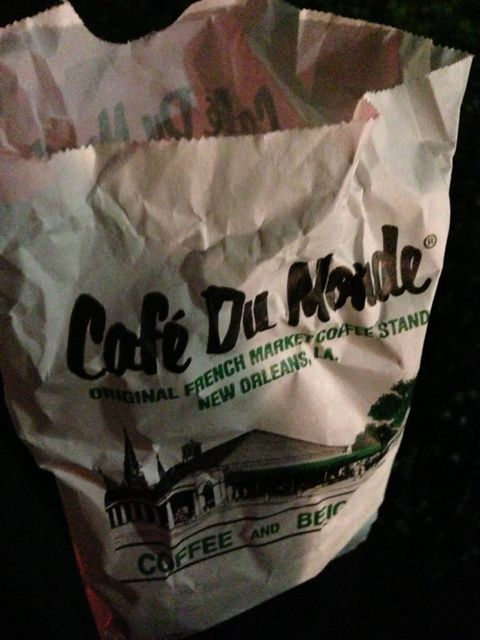 Bag of beignets from Cafe Du Monde