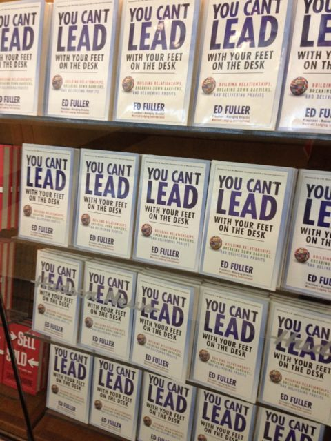 New Leadership book on display at Chicago Midway airport