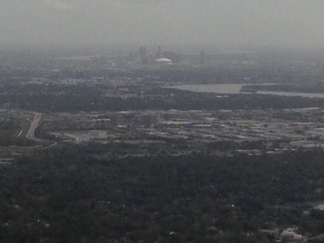 New Orleans Mercedes Benz Superdome off in the distance