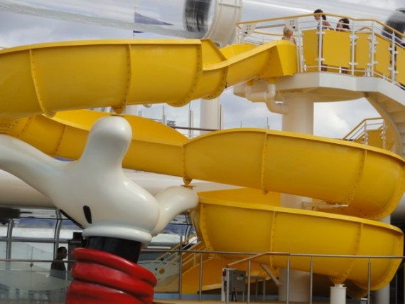 Disney Dream Cruise ship water slide