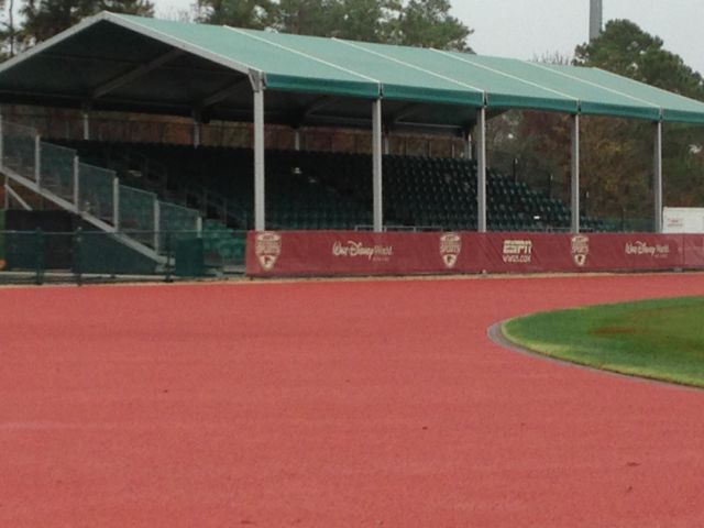 Track and field track without lines