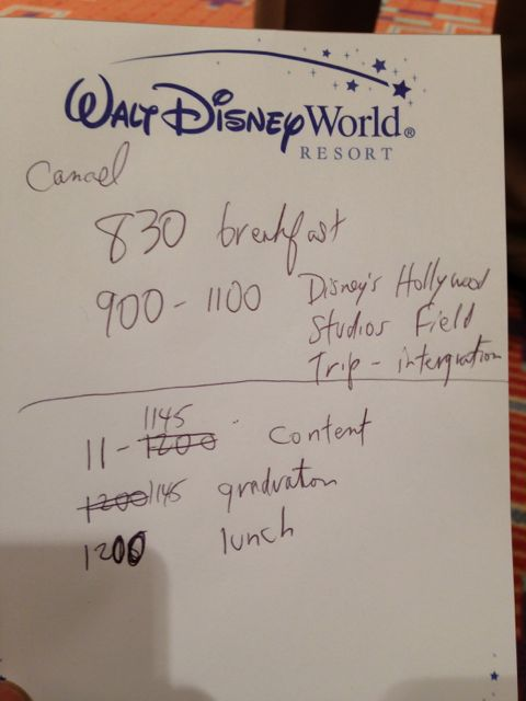 Notes on Walt Disney World stationary