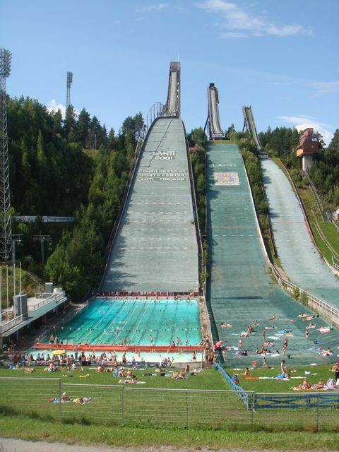 Lahti, Finland's world famous ski jump ramps (Summer 2009)