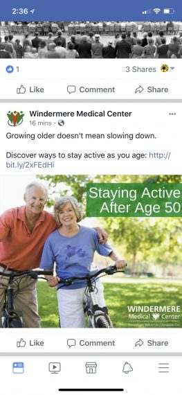 aging and staying active