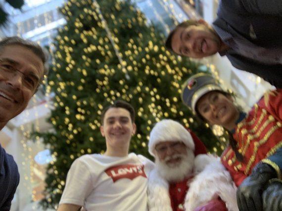 Disney speakers with Santa