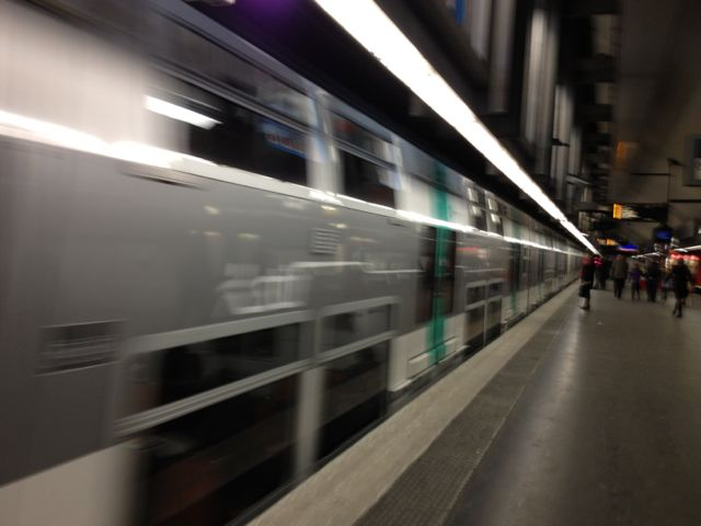 Paris metro trains