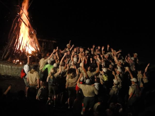 Boy Scout campfires