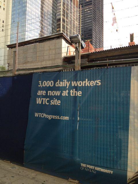 WTC work site