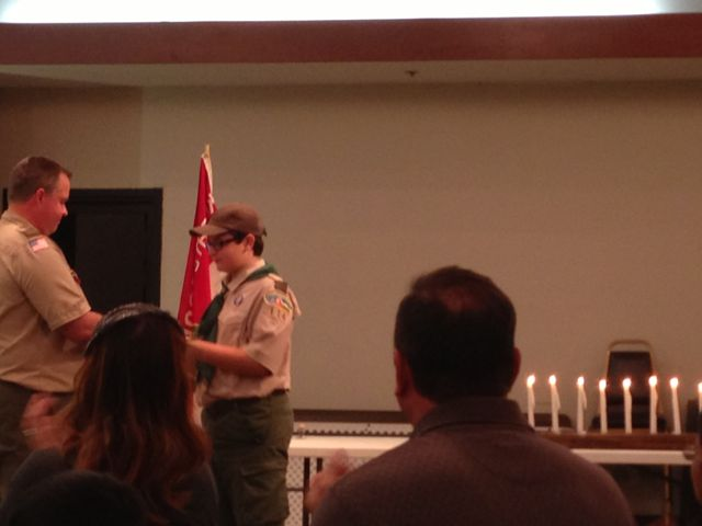 photo of Boy Scout year-end awards ceremony