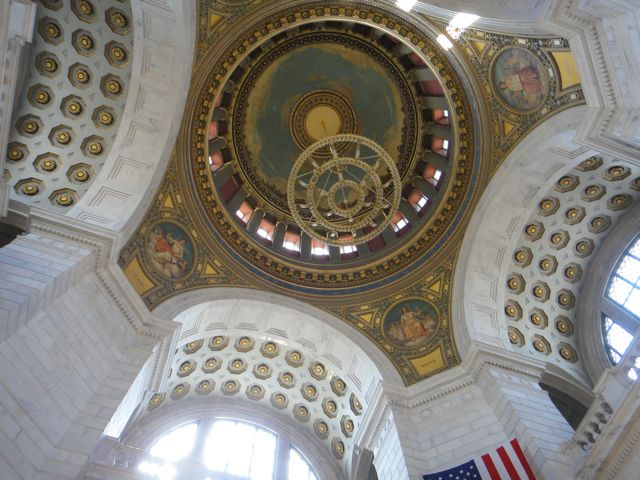 Rhode Island State Capital building ceiling