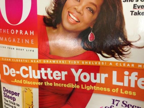 Oprah magazine about decluttering