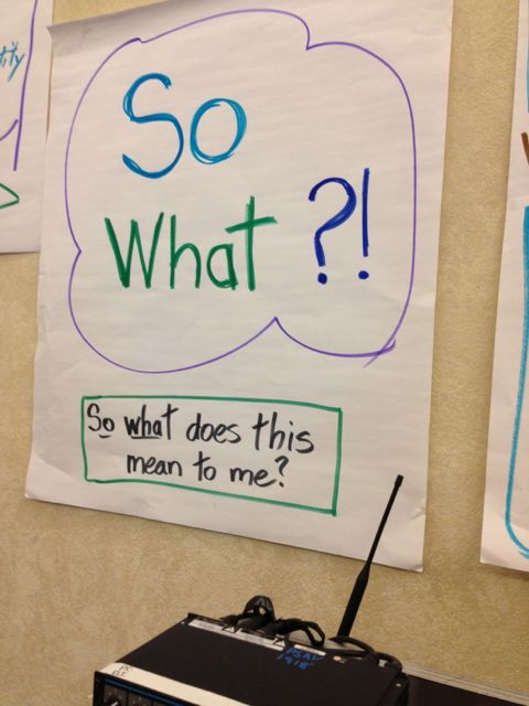 Classroom flip chart question