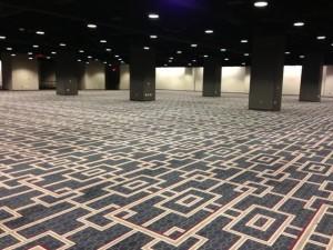 photo of large, empty Hyatt Regency ballroom
