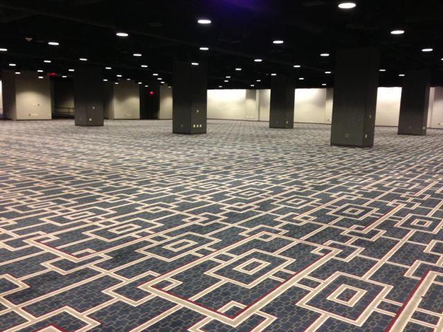 photo of large, empty Hyatt Regency ballroom