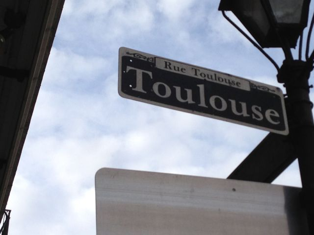 Toulouse Street sign in New Orleans