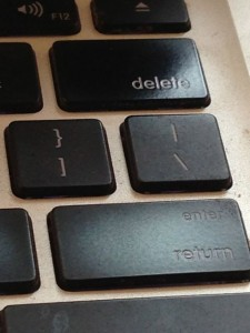 photo of MacBook keyboard keys