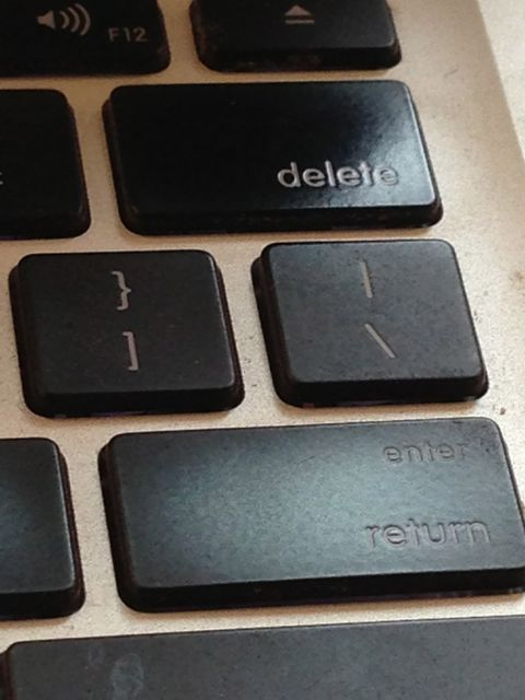 photo of MacBook keyboard keys