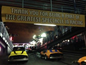 Disney's Tomorrowland Raceway sign