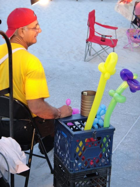 Florida beach side carnival vendor