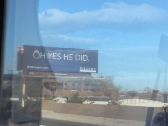 Utah highway billboard sign