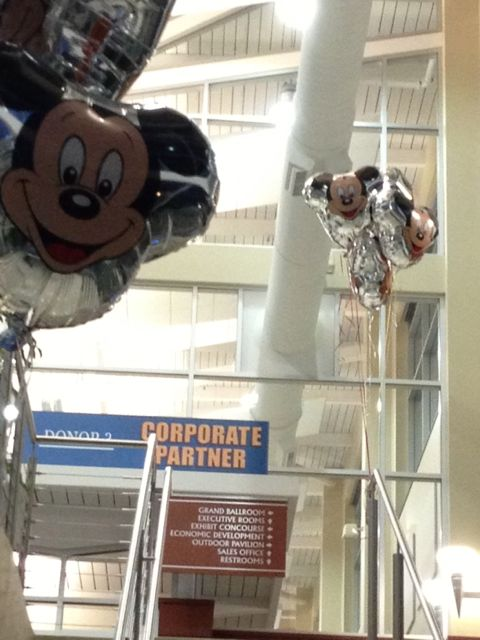 Mickey Mouse balloons at conference center