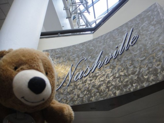 Jack the Teddy Bear in Nashville, TN airport