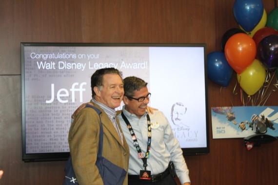Lee Cockerell and jeff noel at Disney Legacy Award presentation