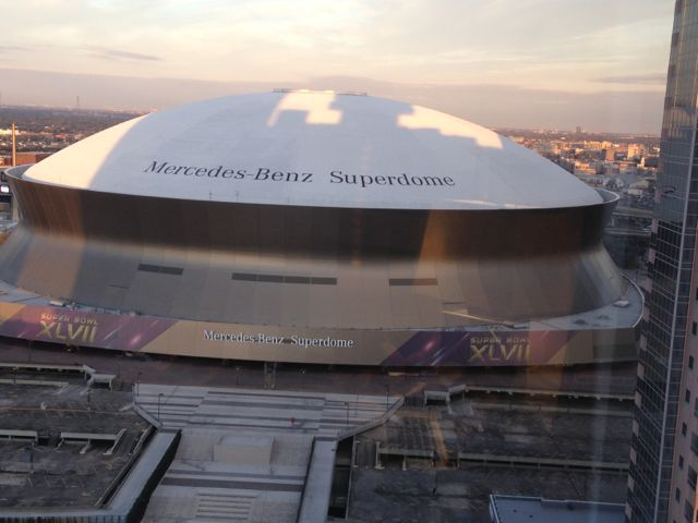 Super Dome from hotel room