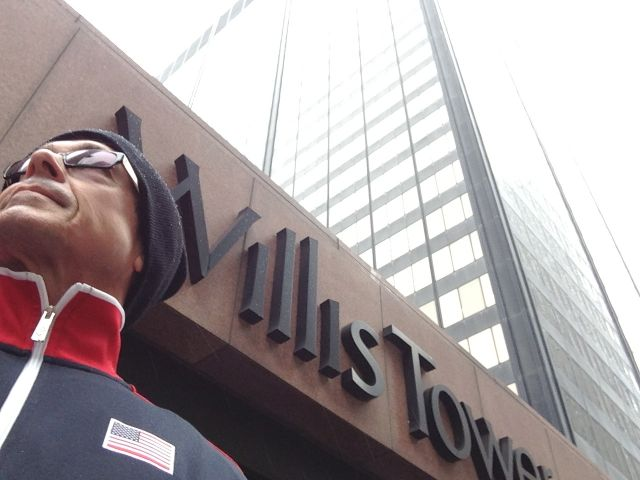 jeff noel at foot of Willis Tower