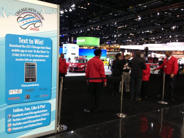 Social media at 2013 Chicago auto show