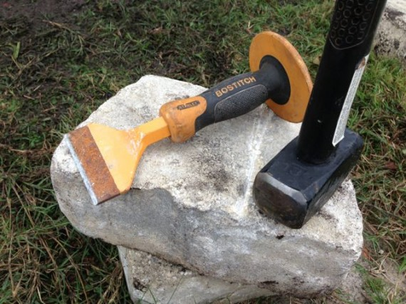 Chisel and hammer for rock work