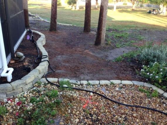 Florida homeowner landscape makeover