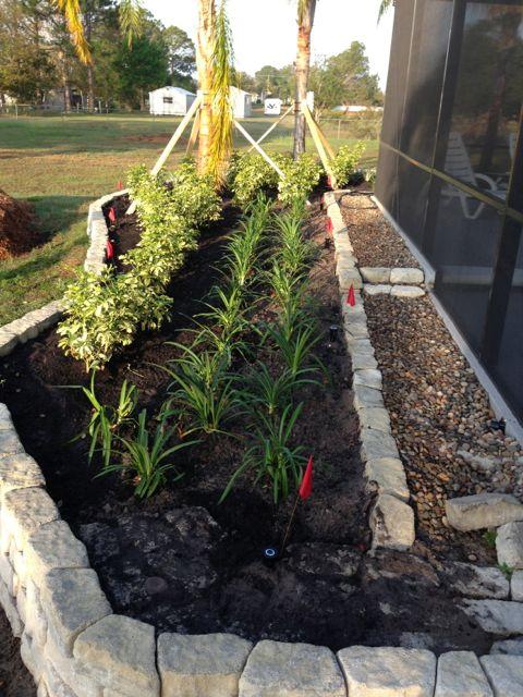 Orlando homeowner landscape project