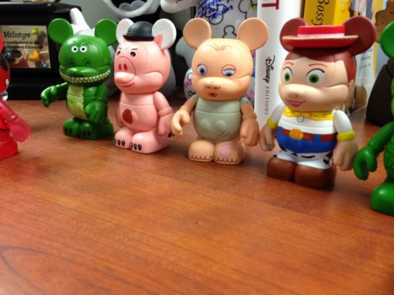 Disney Vinylmation collection on shelf