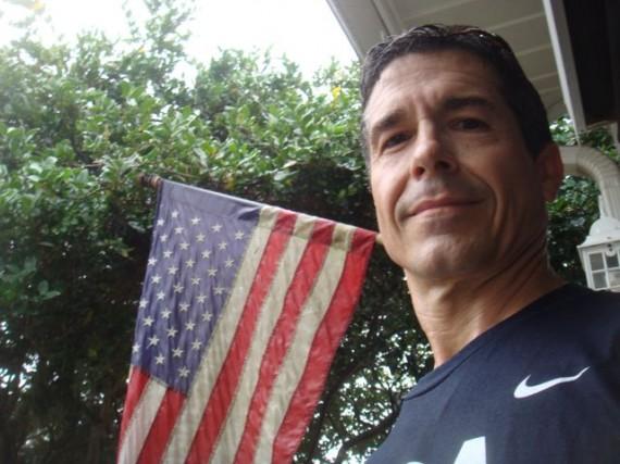 American flag and jeff noel