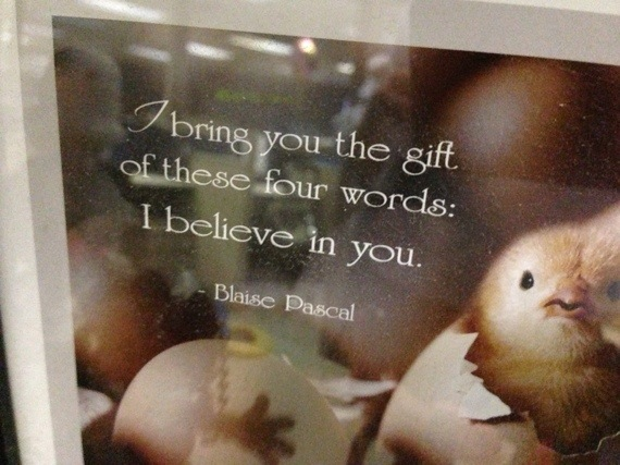 Uplifting thought on belief