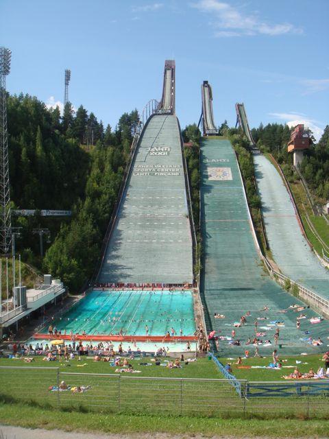 Lahti, Finland's world famous ski jump ramps (Summer 2009)