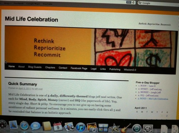 Mid Life Celebration website in 2010
