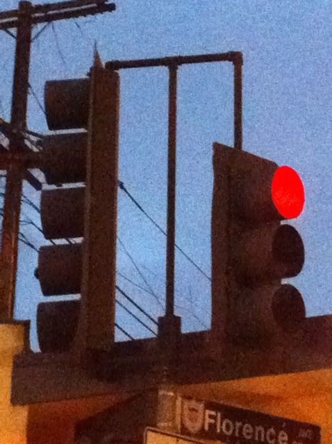 stop light on red
