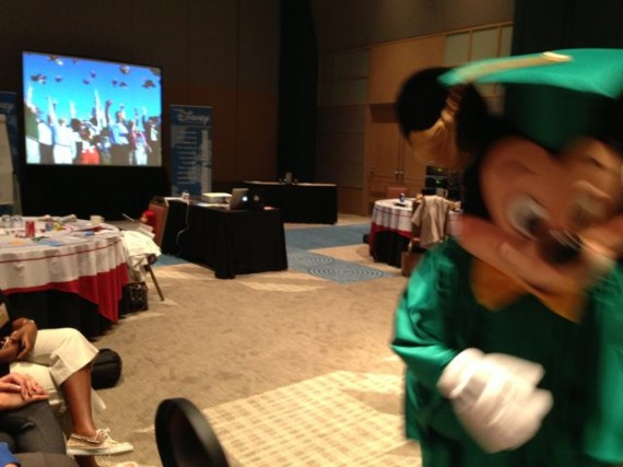 Mickey Mouse in Graduation Cap and Gown