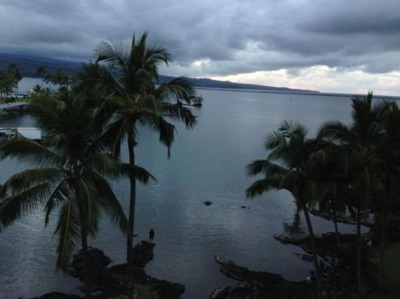 Hilo Hawaiian Hotel room view looking west