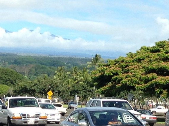 Downtown Hilo, Hawaii on a Saturday morning