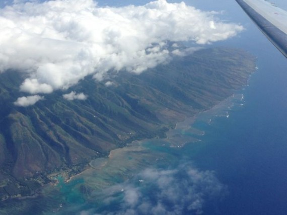 Hawaiian Island from Jet