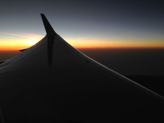 Sunset from United Airlines flight