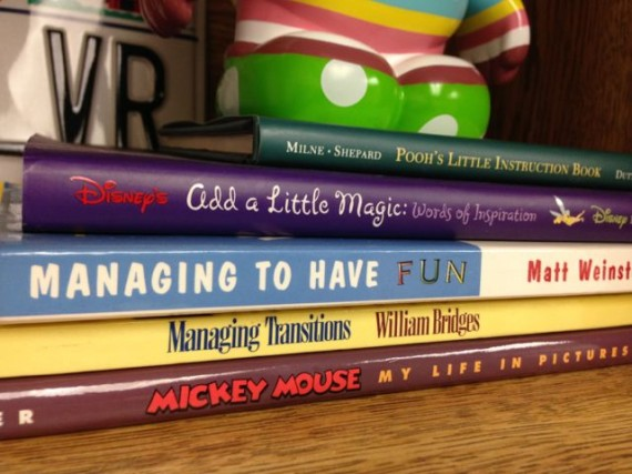 Stack of Disney books