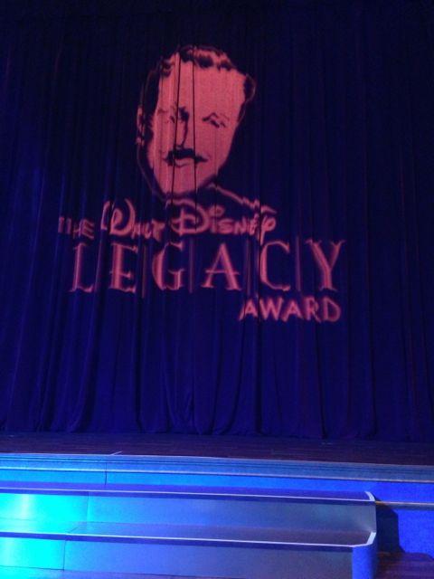 Walt Disney Legacy award banquet stage