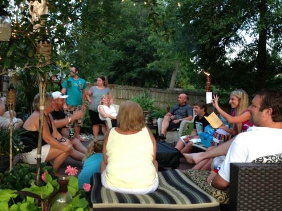 Backyard High School graduation party