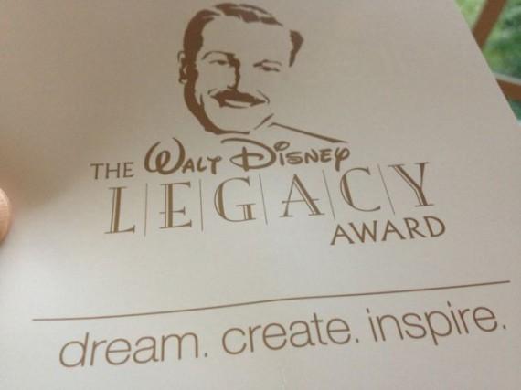 Walt Disney Legacy Award tagline