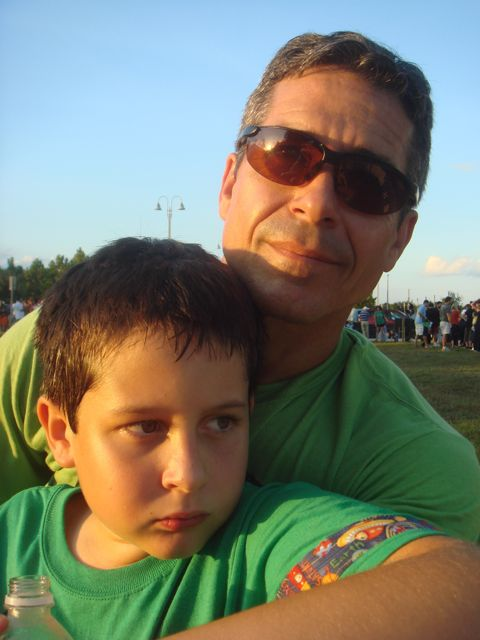 jeff noel with Son 2008